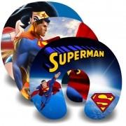 Kit com 10 Almofadas de Pescoço Lembrancinha Personalizada Super Man