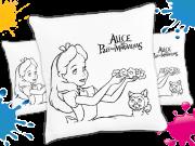 Kit com 10 Almofadas para Colorir e Pintar Personalizada Alice no Pais das Maravilhas