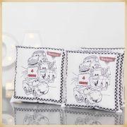 Almofadas para colorir e Pintar Personalizadas para lembrancinha aniversário - kit com 10 unidades Tamanho 20x20cm