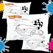 Kit com 10 Almofadas para Colorir e Pintar Personalizada Hotwheels