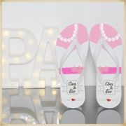 Kit com 30 Chinelos Personalizados para festas de casamento e madrinhas
