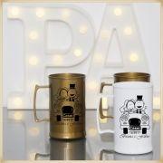 Canecas acrílico Personalizadas para Festas de Casamento e Padrinhos - Kit com 50 unidades