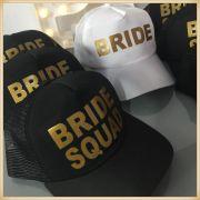 Bonés Despedida de solteira Bride e Squad Bride - kit com 7 unidades