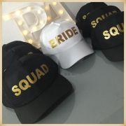 Bonés Despedida de solteira Bride e Squad - kit com 7 unidades