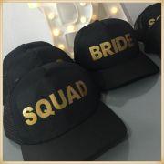 Bonés Despedida solteira Squad e Bride - kit com 7 unidades