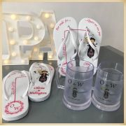 Kit padrinhos de casamento com Chinelo + Caneca de gel Personalizada