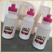 Squeeze Personalizado de plástico - prático e durável, estampa brilhante de alta qualidade, volume 500 ml, resistente a quedas. - kit 20 unidades