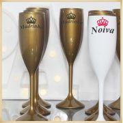 Taças de acrílico personalizadas casamento - Kit com 100