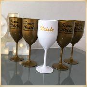 Taças de acrílico personalizadas para casamento - kit com 100