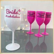 Taças de acrílico personalizadas para casamento - kit com 50