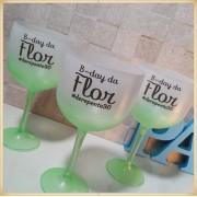 Taças de gin degradê personalizadas - kit com 13 unidades
