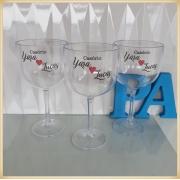 Taças de gin personalizadas Casamento - produto de alta qualidade, brilhante, ótimo acabamento, parede 2,5 mm, material atóxico, 580 ml. kit 10 unidades