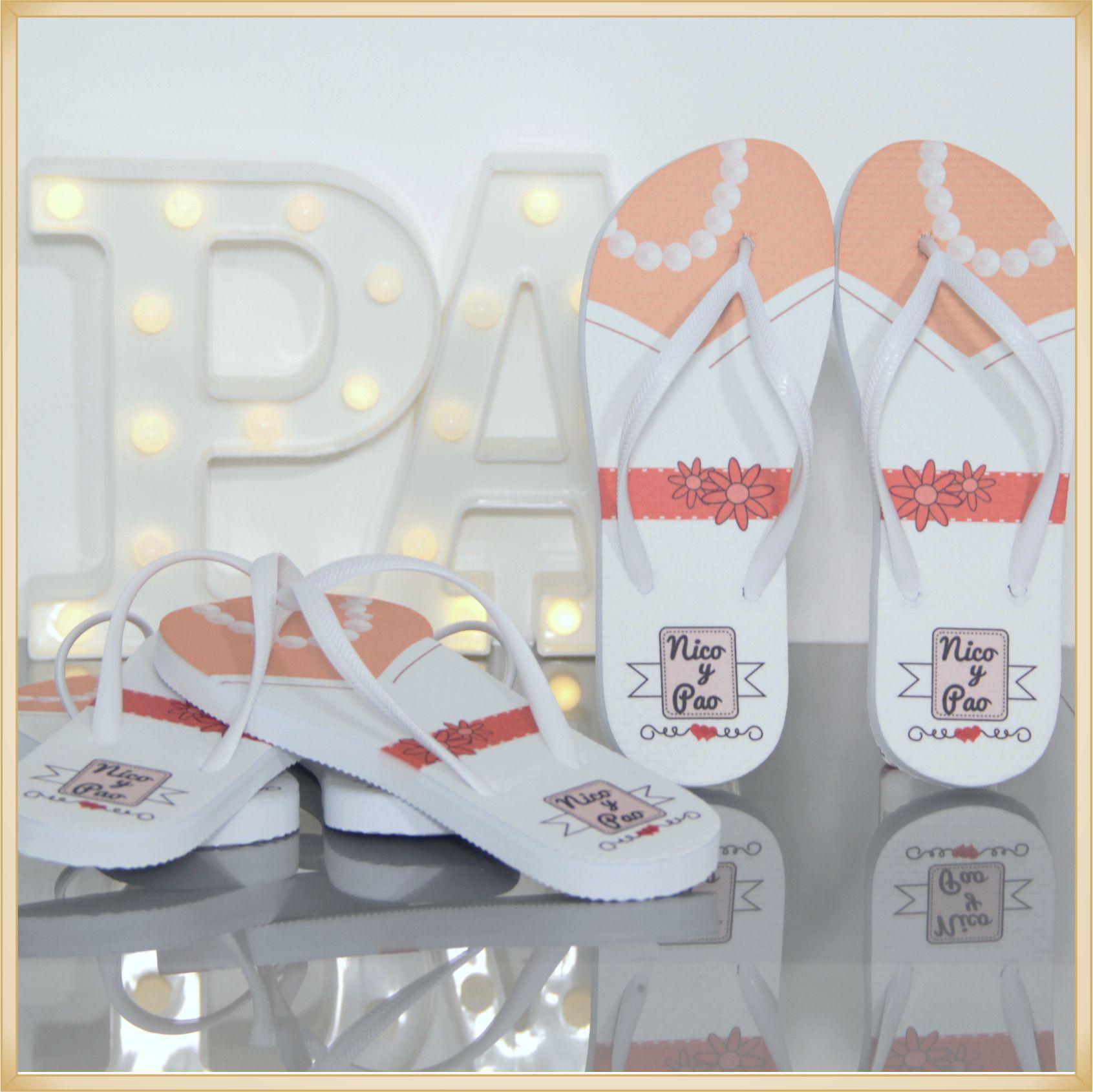 fce64327b9ff14 20 Chinelos Personalizados para festas de casamento brindes para ...