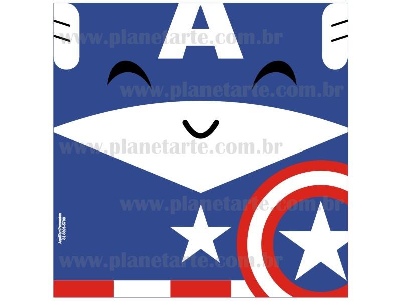 Kit com 10 Almofadas Cute Baby Personalizada Capitão América