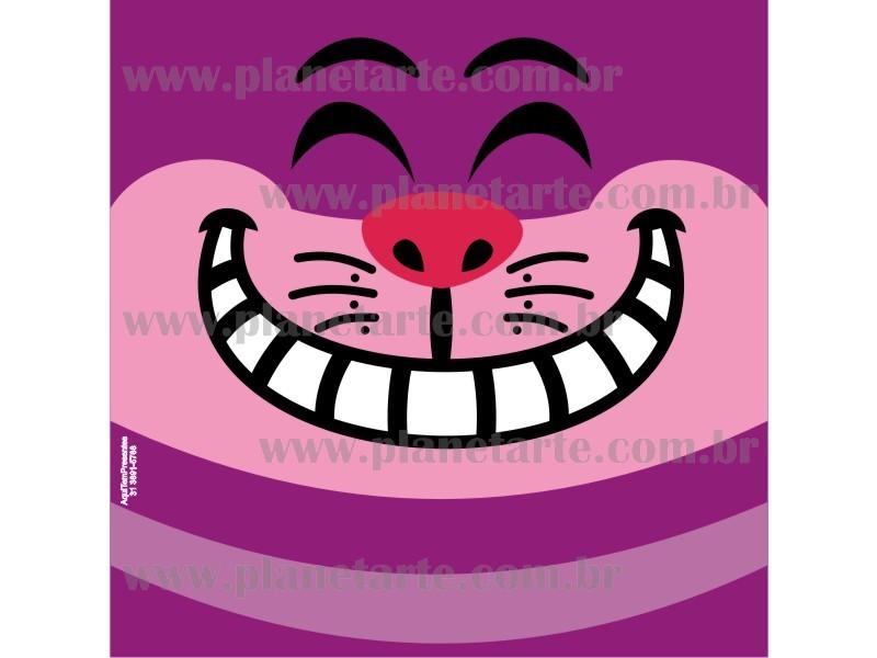 Kit com 10 Almofadas Cute Baby Personalizada Gato Cheshire