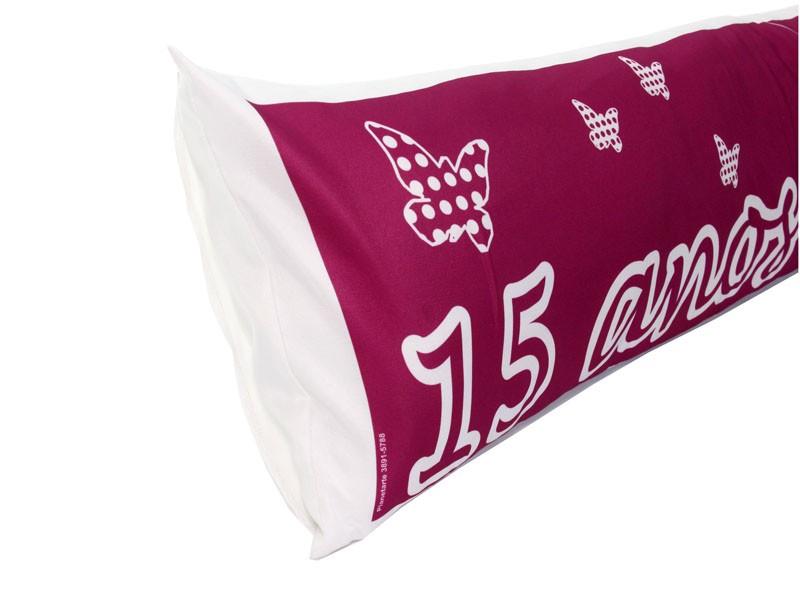 Almofada de Metro Personalizada Aniversário 15 Anos Pink