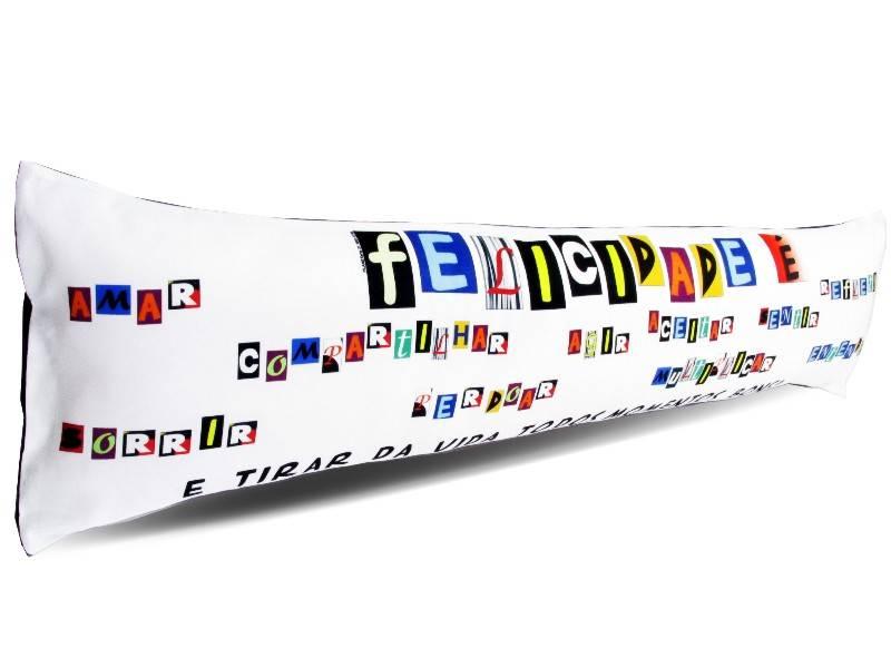 Almofada de Metro Personalizada Divertidas Felicidade é