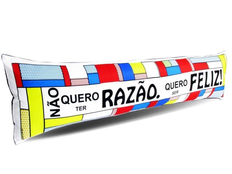 Almofada de Metro Personalizada Divertidas Quero ser Feliz