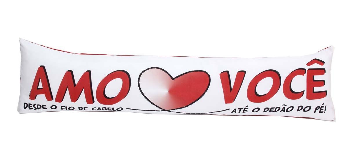 Almofada de Metro Personalizada Namorados Amo S2 Você