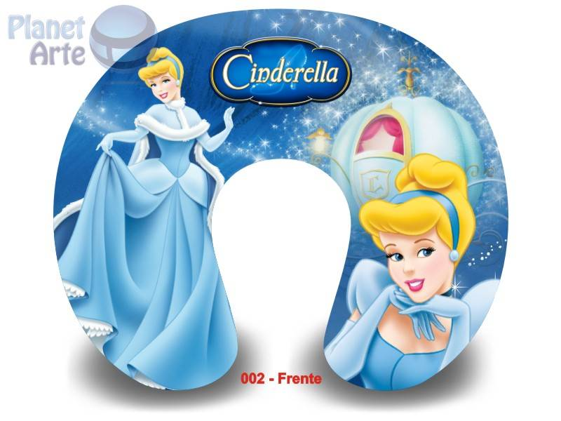 Kit de 10 Almofadas de Pescoço Lembrancinha Personalizada Cinderella