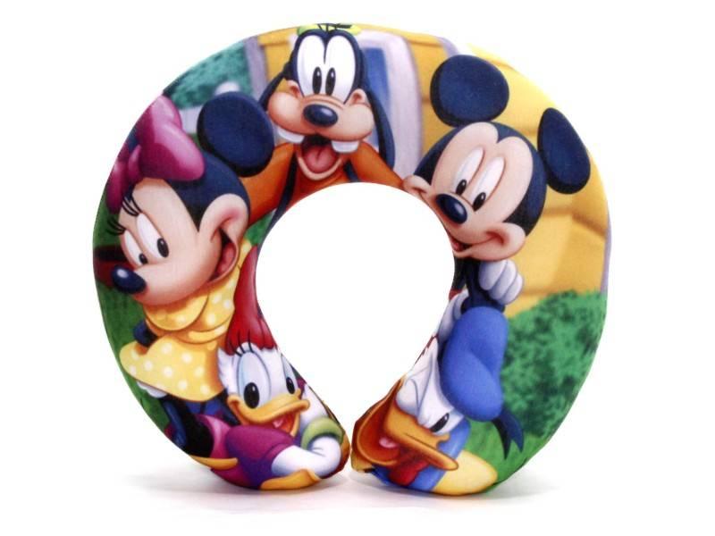 Kit de 10 Almofadas de Pescoço Lembrancinha Personalizada Mickey e sua Turma