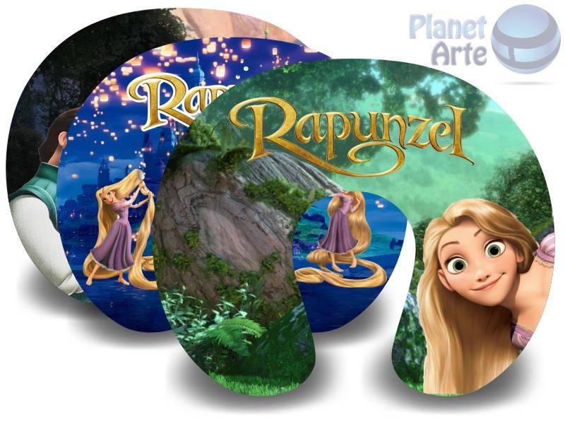 Kit de 10 Almofadas de Pescoço Lembrancinha Personalizada Rapunzel