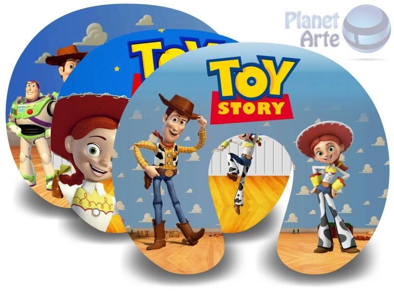Kit de 10 Almofadas de Pescoço Lembrancinha Personalizada Toy Story