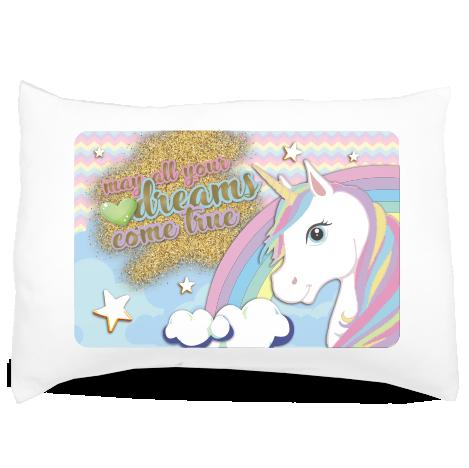 Almofada de Travesseiro Personalizada Unicórnio