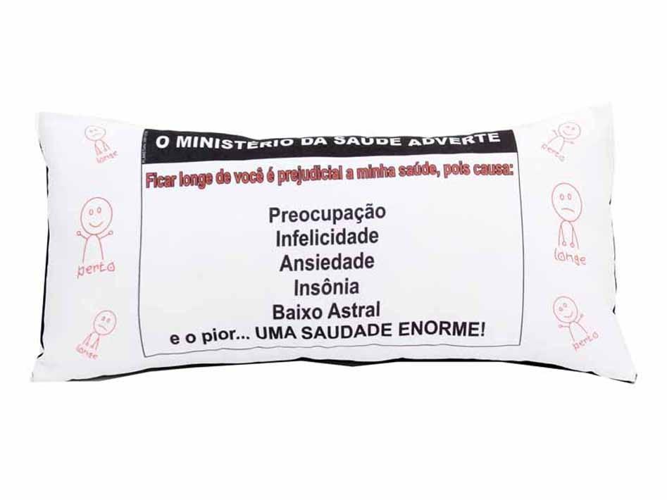 Almofada Palito Personalizada Namorados Ministério do Amor