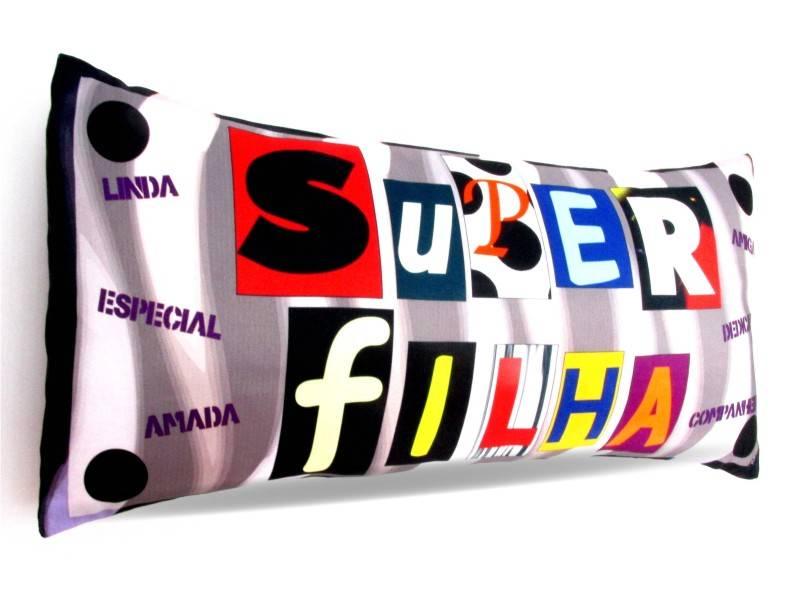 Almofada Palito Personalizada Super Filha