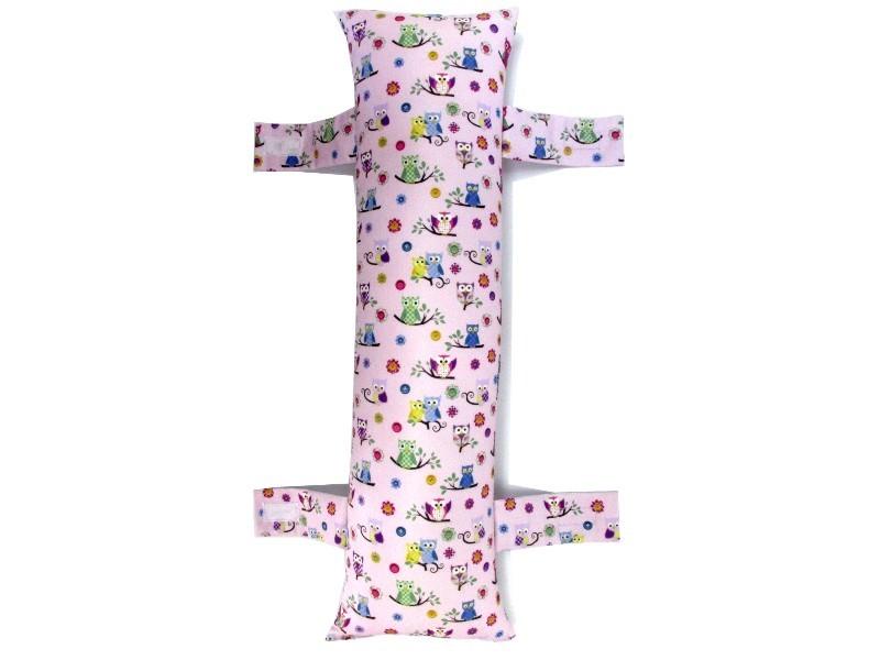 Almofada para Cinto de Segurança Personalizada - Corujinha Pink
