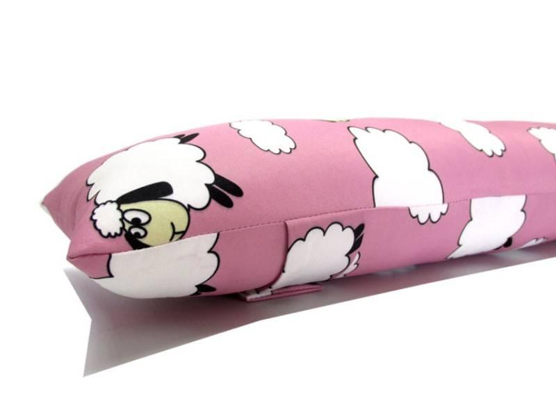 Almofada para Cinto de Segurança Personalizada - Ovelhinha Rosa