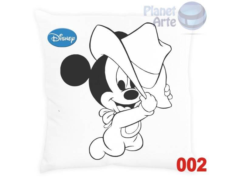 Kit com 10 Almofadas para Colorir e Pintar Personalizada Mickey e sua Turma