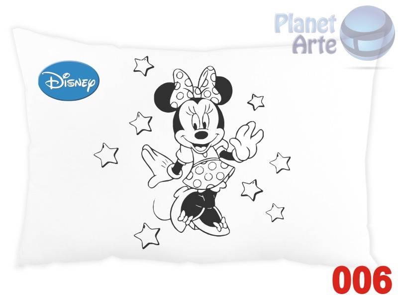 Kit de 10 Almofadas para Colorir e Pintar Personalizada Mickey e sua Turma