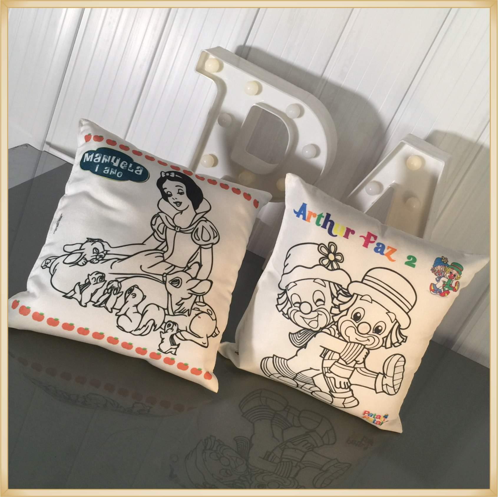 Almofada para pintar personalizada aniversário infantil