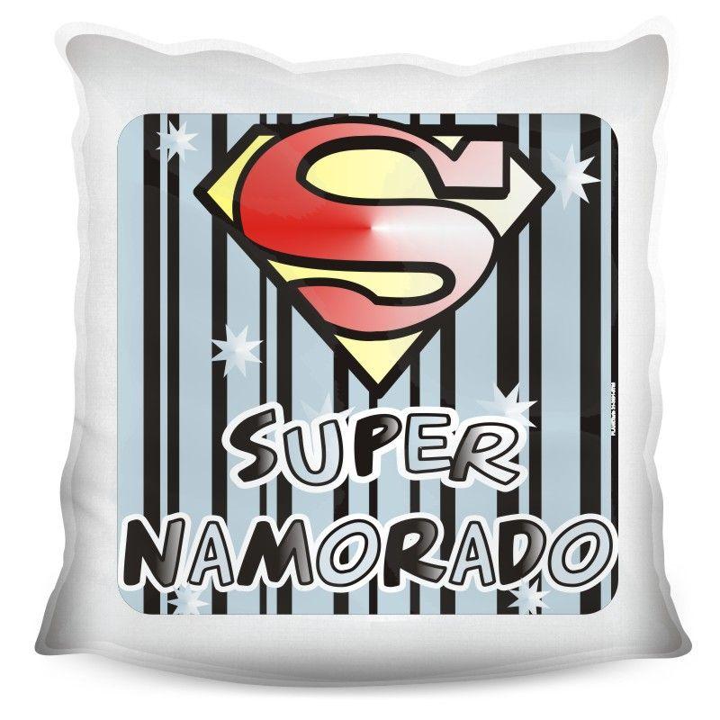 Almofada Quadrada Personalizada Amor Super Namorado