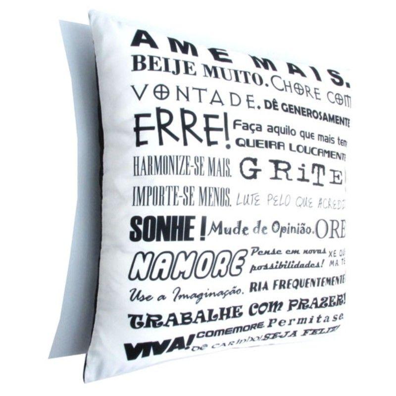 Almofada Quadrada Personalizada Criativa - Ame Mais