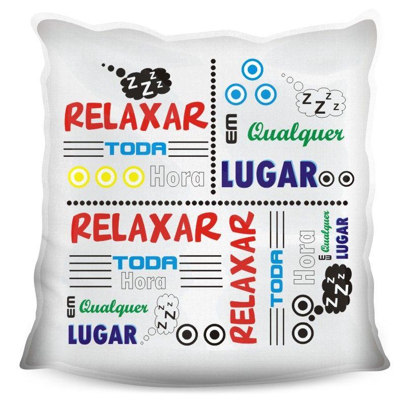 Almofada Quadrada Personalizada Criativa Hora de Relaxar