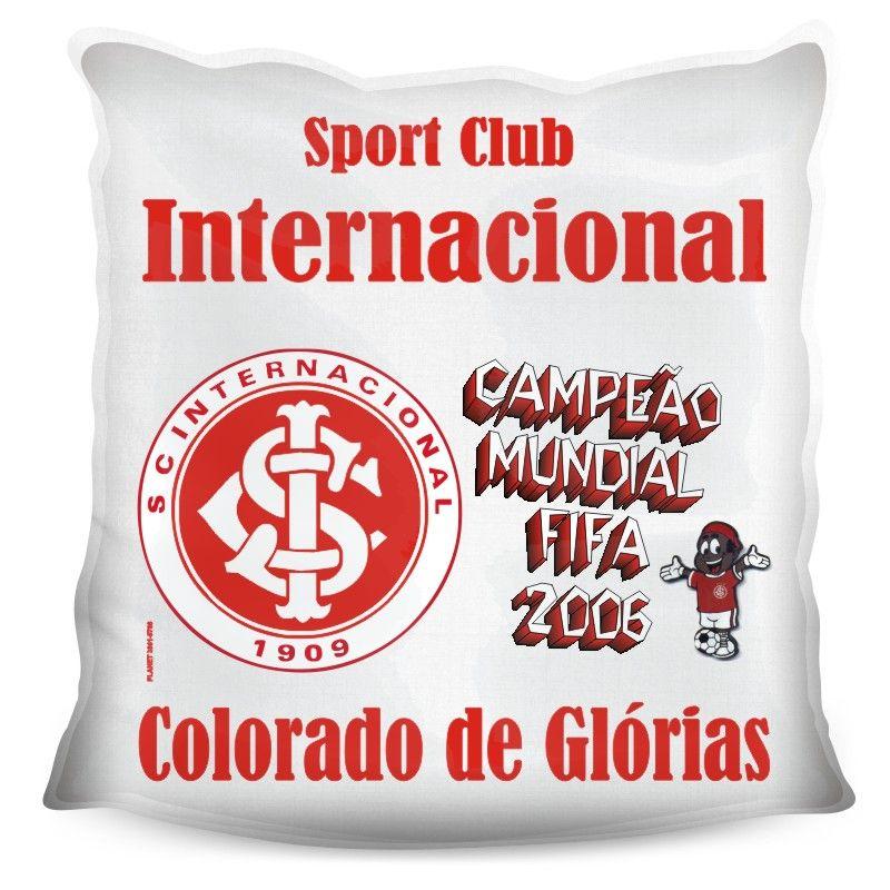 Almofada Quadrada Personalizada do Internacional