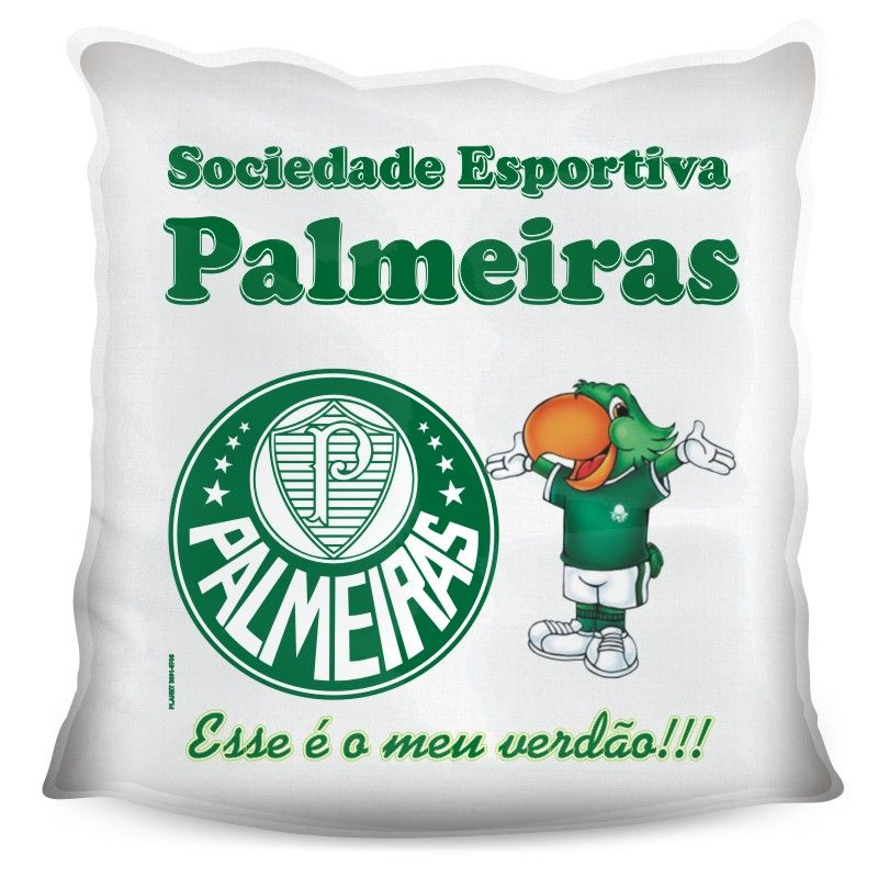 Almofada Quadrada Personalizada do Palmeiras