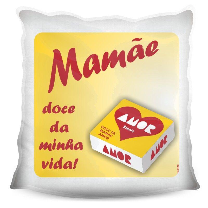 Almofada Quadrada Personalizada Doce de Mãe