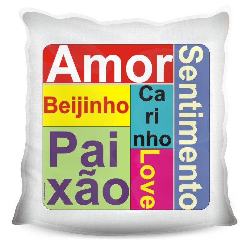 Almofada Quadrada Personalizada Namorados Amor Paixão