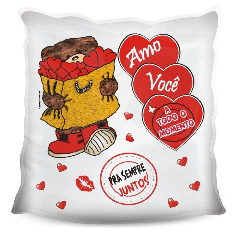 Almofada Quadrada Personalizada Namorados Pra Sempre Juntos