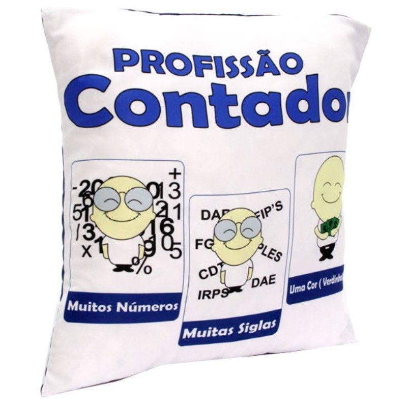 Almofada Quadrada Personalizada Profissão Contador