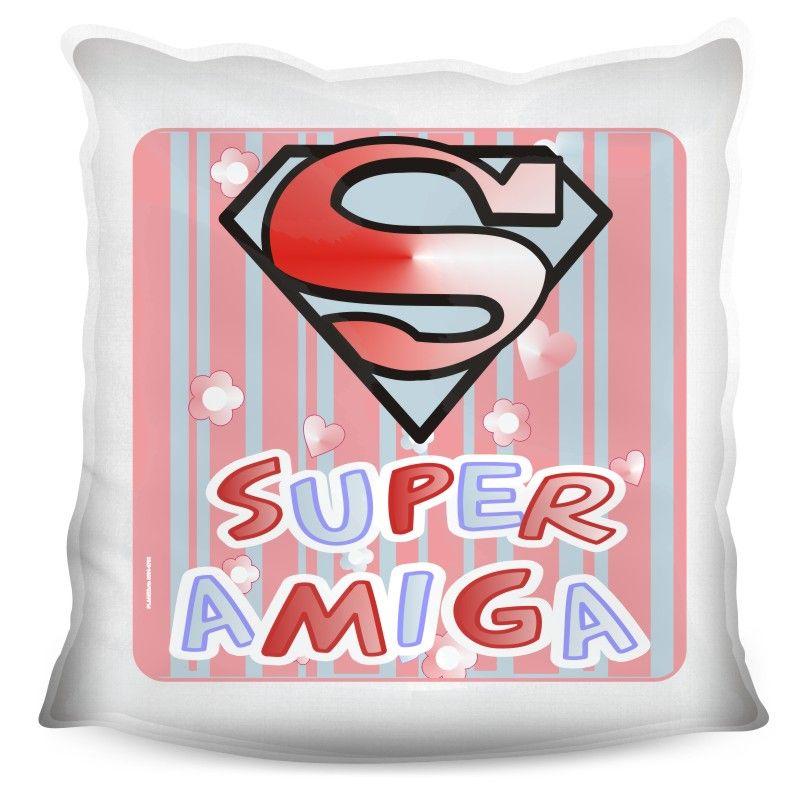 Almofada Quadrada Personalizada Super Amiga