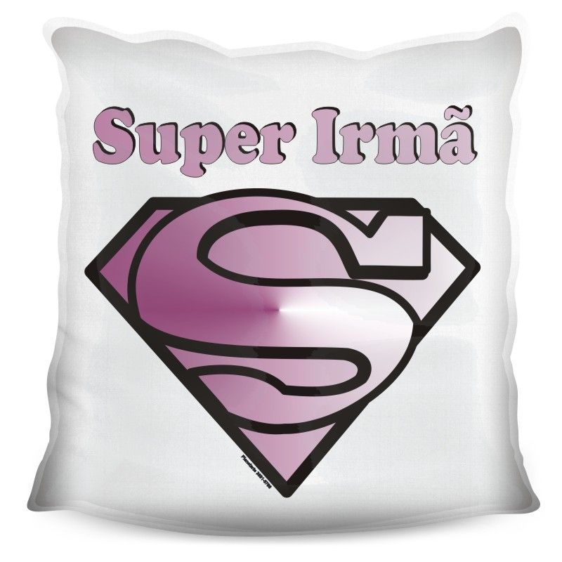Almofada Quadrada Personalizada Super Irmã