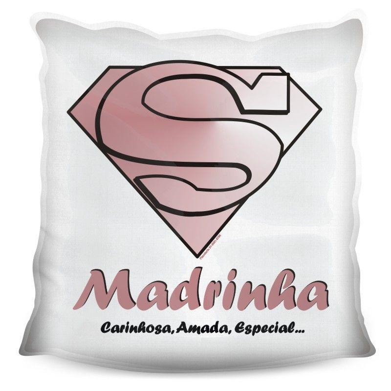 Almofada Quadrada Personalizada Super Madrinha