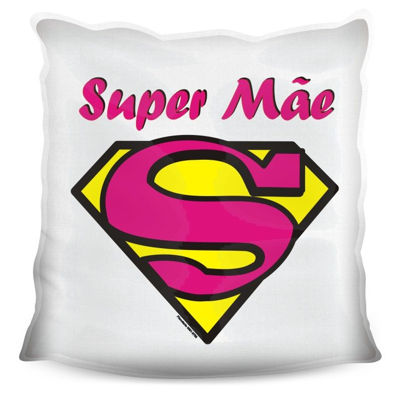 Almofada Quadrada Personalizada Super Mãe