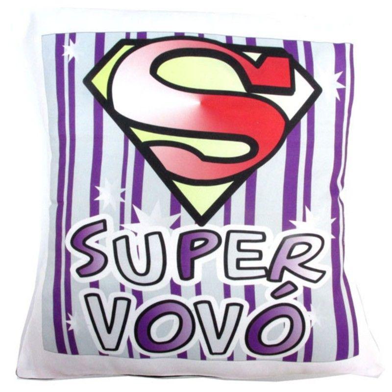 Almofada Quadrada Personalizada de Avós Super Vovó