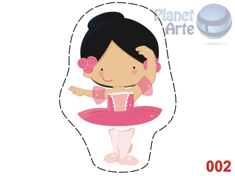 Kit de 10 Almofadas Recortada Personalizada Cute Bailarina
